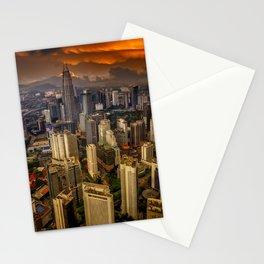 Kuala Lumpur City Sunset Stationery Cards