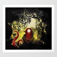 zoidberg Art Prints featuring Zoidpunk Steampunk Zoidberg by TheJCW
