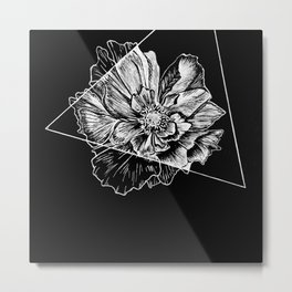 Geometric Flower Metal Print