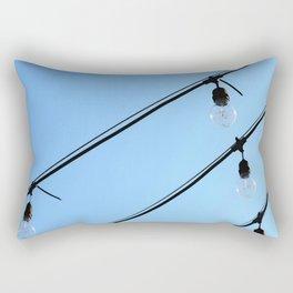 Light Bulb Art - Hanging Lights On Blue - Sharon Cummings Rectangular Pillow