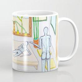 Ladies' night with a naked man Coffee Mug
