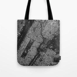 Central Park New York 1947 vintage old map for office decoration Tote Bag