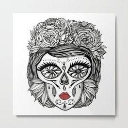 Miss Calavera Metal Print