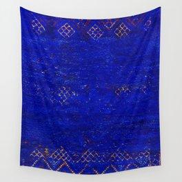 -A5- Royal Calm Blue Bohemian Moroccan Artwork. Wall Tapestry