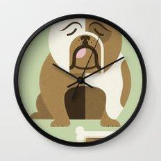 Bulldog - Green Variant Wall Clock