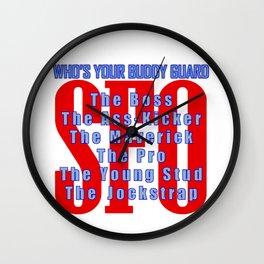 SFO Buddy Guard Wall Clock