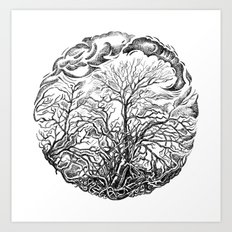 Forest and sky Art Print