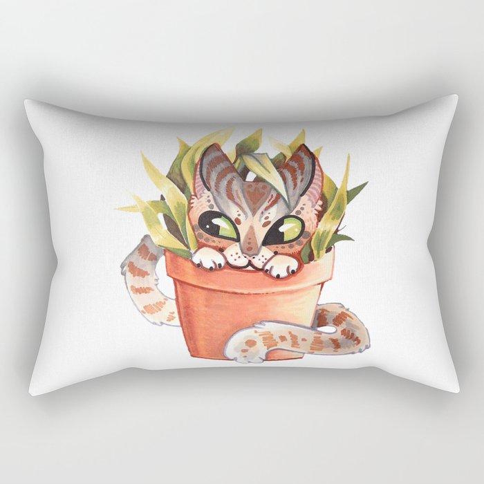 Cat Plant  Rectangular Pillow