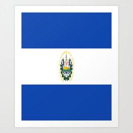 Flag of salvador - salvador,Salvadoran,San Salvador,salvadoreño,Guanaco. Art Print
