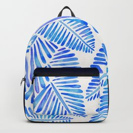 Tropical Banana Leaves – Blue Palette Backpack
