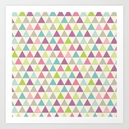 Colorful triangle pattern. Art Print