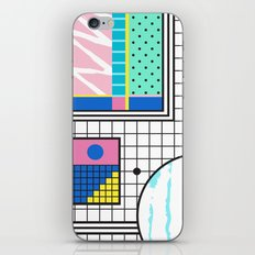 Memphis Retro Revival Collage iPhone Skin