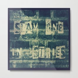 Slam 1 Industries Ransom Note Blue Tone Metal Print