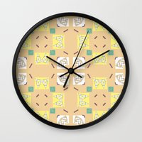 80s Wall Clocks featuring 80s CANDY  by Happy Waves