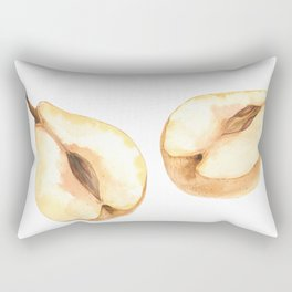 Half a Watercolor Chinese Pears. Botanical illustration Rectangular Pillow