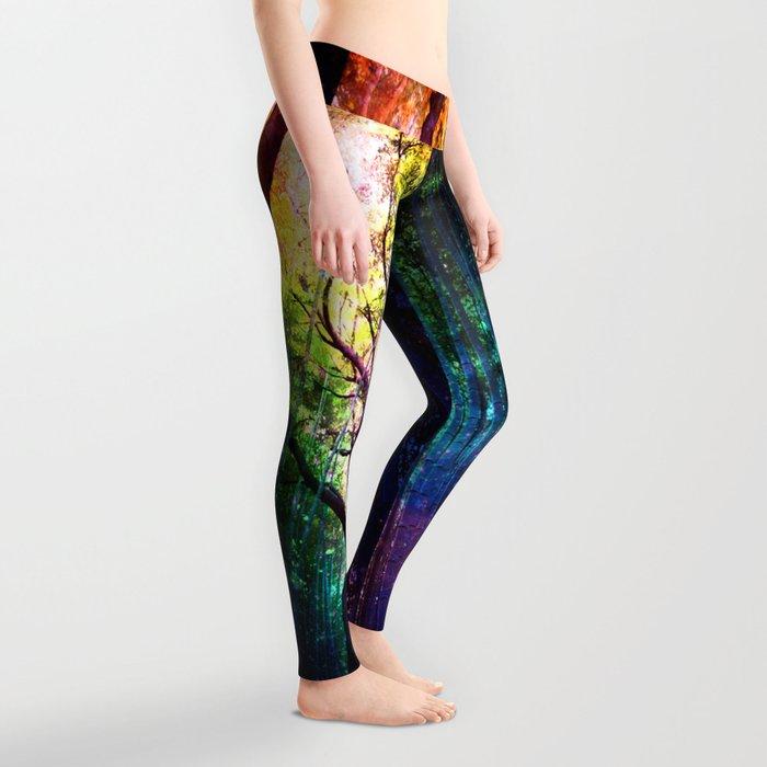 rainbow rain Leggings