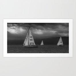 Clipper Race Art Print