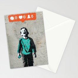Banksy, social life, likes Stationery Cards