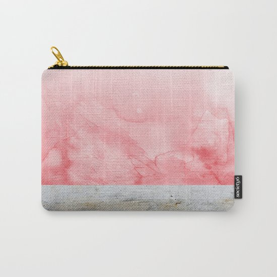 Concrete and Pink Carry-All Pouch