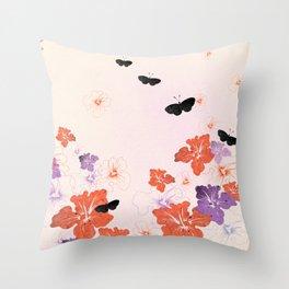 Flower Time! Throw Pillow