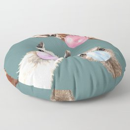 Bubble Gum Gang Dark Green Floor Pillow
