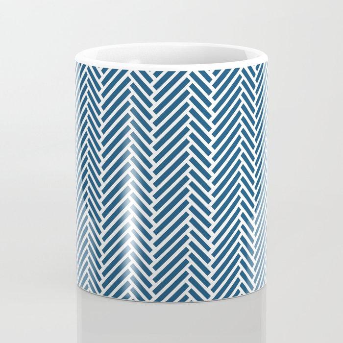 Herringbone Navy Inverse Coffee Mug