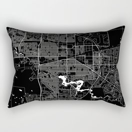 Regina - Minimalist City Map Rectangular Pillow