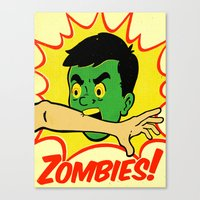 zombies Canvas Prints featuring Zombies! by Derek Eads