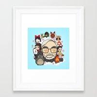 laputa Framed Art Prints featuring Ghibli, Hayao Miyazaki and friends by KickPunch