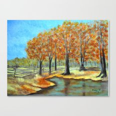 Autumn landscape 3 Canvas Print