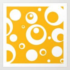 Circles Dots Bubbles :: Mango Art Print
