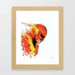 Fastest man  Framed Art Print