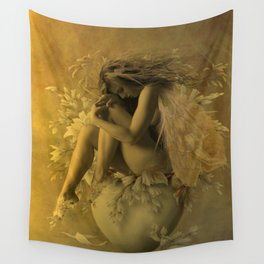 Flower Pot Fairy Wall Tapestry
