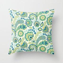 Spring Garden Paisley Throw Pillow