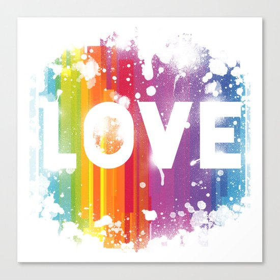 For Love - White Background Canvas Print
