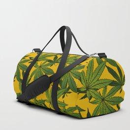 Cannabis Leaf - Gold Duffle Bag