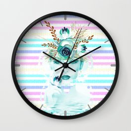 Frosen Past Memories Colorful Winter Wall Clock