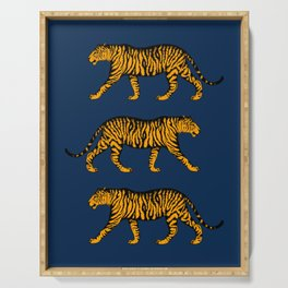 Tigers (Navy Blue and Marigold) Serving Tray