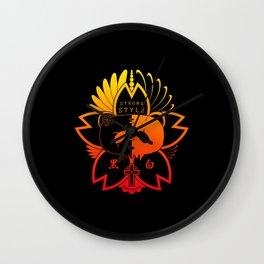 Panda Paw Paw T-Shirt Logo (Summer) Wall Clock