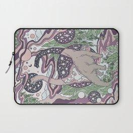 Jurassic Portal | Purple Haze Palette | Dinosaur Science Fiction Art Laptop Sleeve