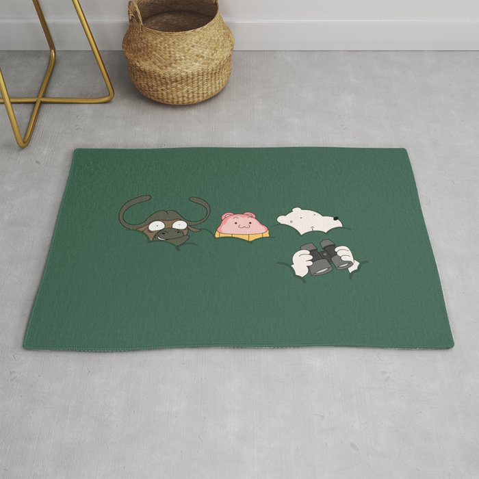 In the bush (Peepoodo) Rug