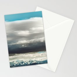 Crazy Mountain Cloud Cover Stationery Cards