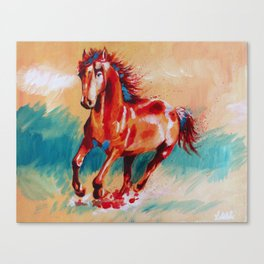 Runing Horse Canvas Print