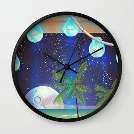 Beach at night Wall Clock
