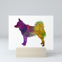 Schipperke dog in watercolor Mini Art Print