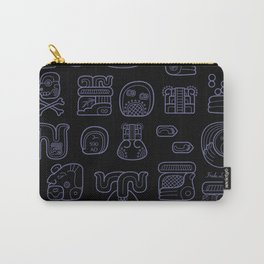 Picto-glyphs Story--Negro Carry-All Pouch