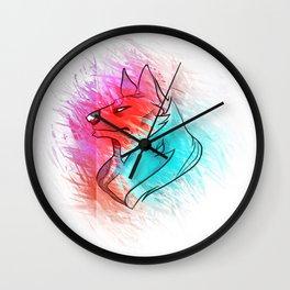 Wolf Kin Wall Clock