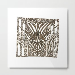 Brown Design Metal Print