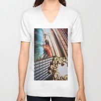 broadway V-neck T-shirts featuring New Broadway by John Turck
