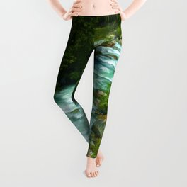 Here Be Bears - Black Bear and Wilderness River Leggings